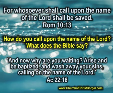 How do you call on the name of the Lord?