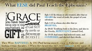 Hear, Believe, Confess, Repent & be Baptized