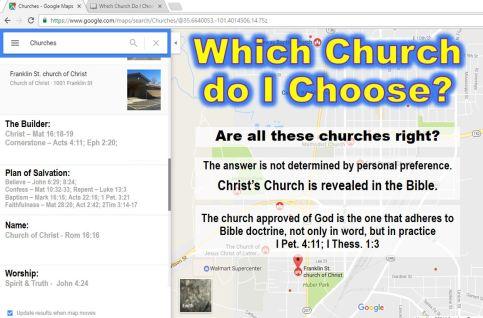Which church do I choose?