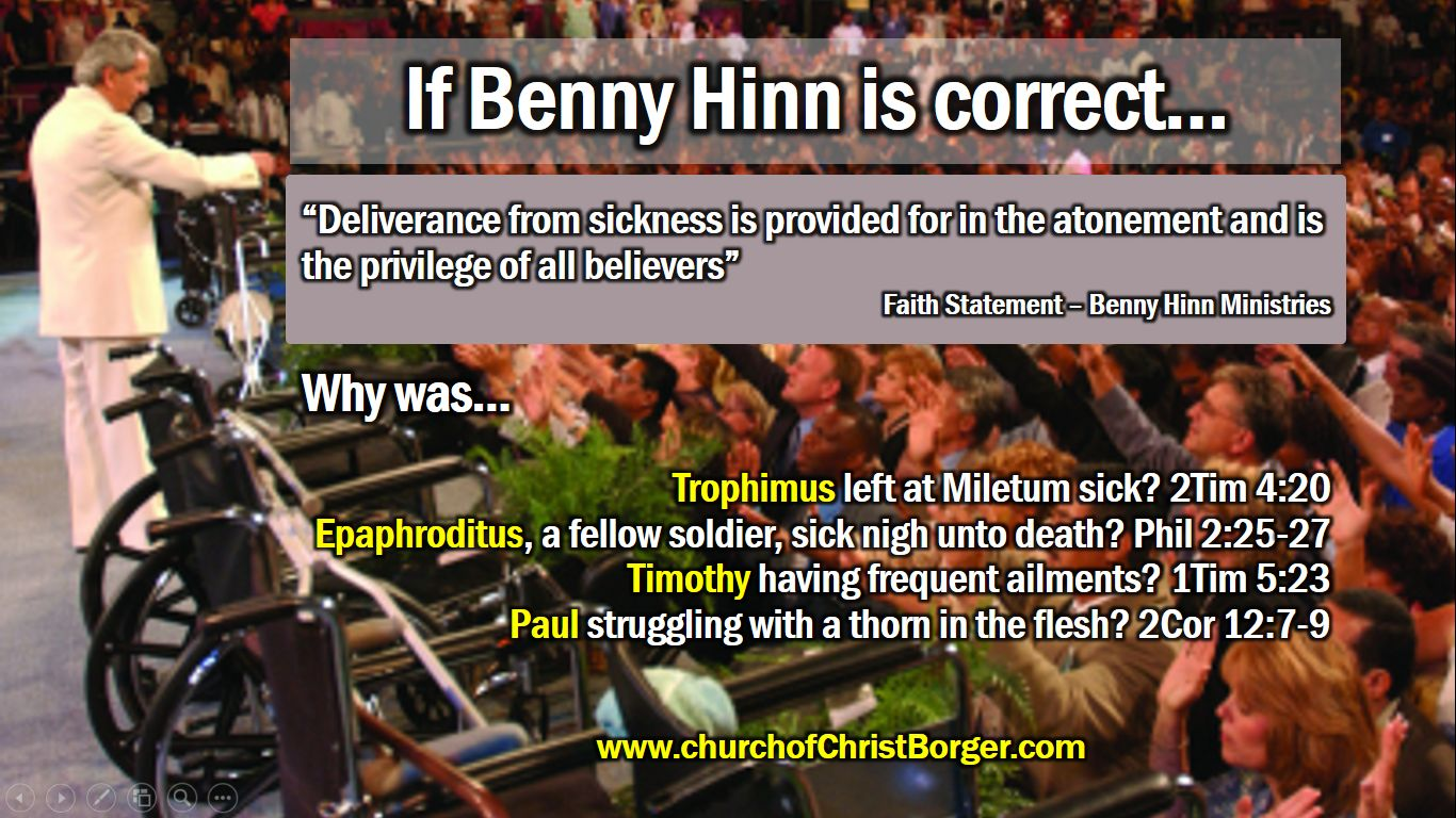 Faith Healers need to explain some things | Borger church of